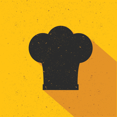 replaceable: Hat cooking design on yellow background,flat design,clean vector