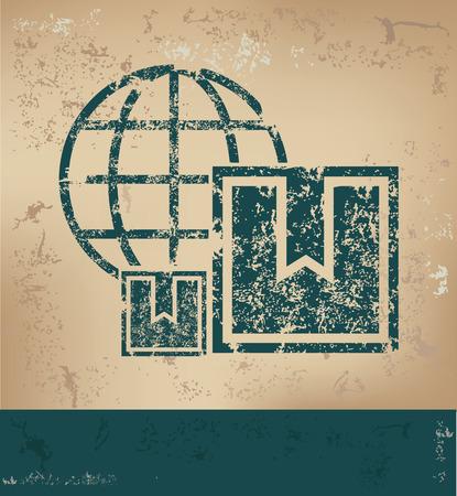 old paper background: Box design on old paper background,grunge concept,vector