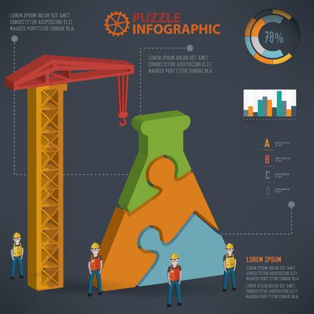 dna graph: Science puzzle design, info graphic design. Clean vector.