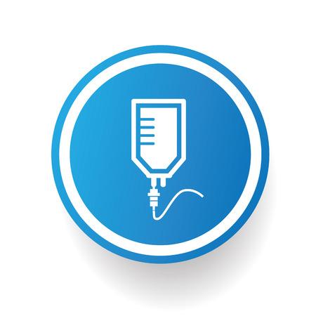 saline: Saline,blue icon design on white background,clean vector Illustration
