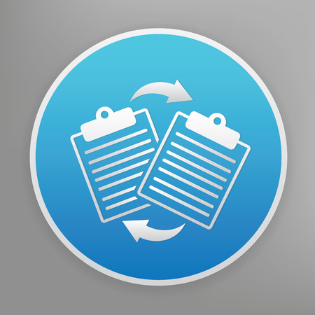 file share: File share design icon on blue button,clean vector