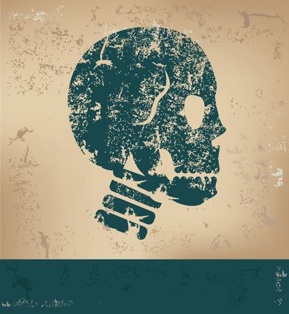 old paper background: Skull design on old paper background,grunge concept,vector