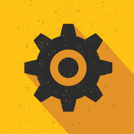Toestelontwerp op gele achtergrond, retro gele achtergrond, schone vector Stock Illustratie