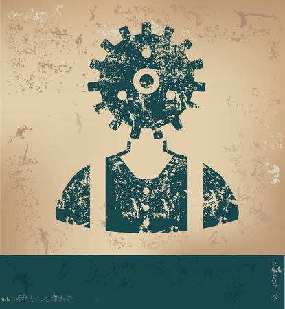 engineering design: Engineering design on old paper background,grunge concept,vector Illustration