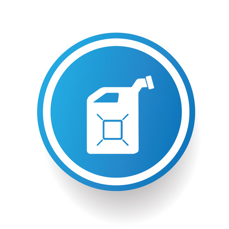 refinery engineer: Oil,Industry icon design on blue button,white background,clean vector