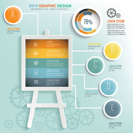 phonographic: Data info graphic design, Business concept design. Clean vector.