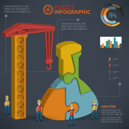 neutrons: Science puzzle design, info graphic design. Clean vector.