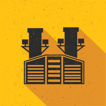 heavy industry: Heavy industry design on yellow background,retro yellow background,clean vector Illustration