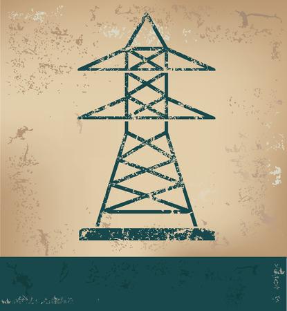 amperage: Electricity design on old paper background,grunge concept,vector Illustration