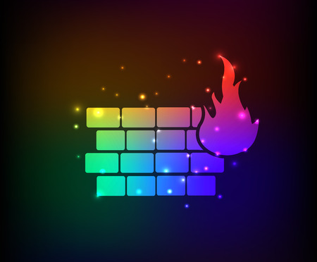 wall design: Fire wall design,rainbow concept design,clean vector