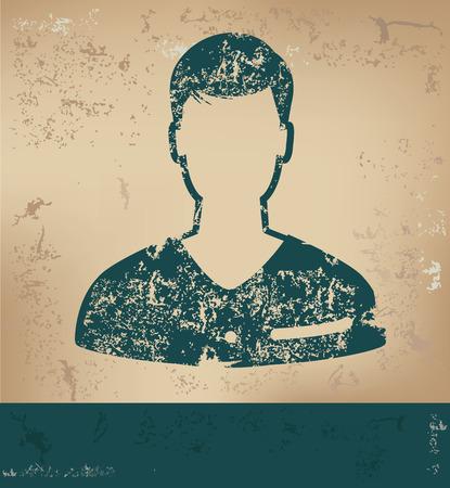 unnamed: Man design on old paper background,grunge concept,vector
