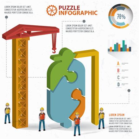 saline: Saline puzzle design, info graphic design. Clean vector.
