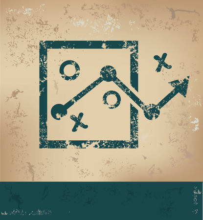 choose a path: Strategy design on old paper background,grunge concept,vector