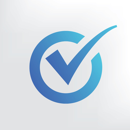 blue and white: Checking icon design. Clean vector. Illustration