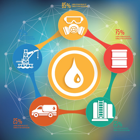 flaring: Oil and industry design on blur background,info graphic design,clean vector