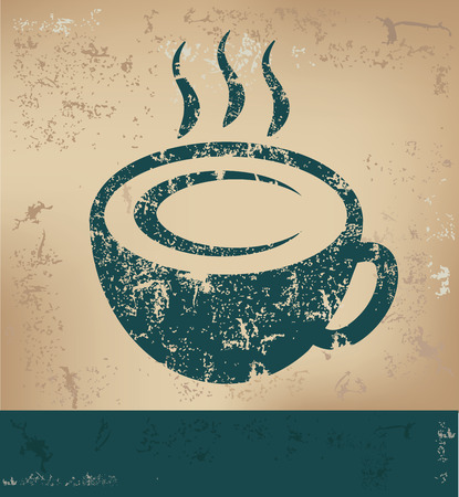 old paper background: Coffee design on old paper background,grunge concept,vector