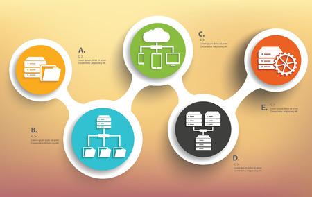 database concept: Database info graphic design, Business concept design. Clean vector.