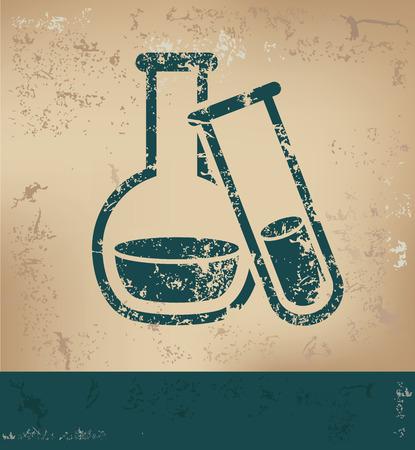 old paper background: Science design on old paper background,grunge concept,vector