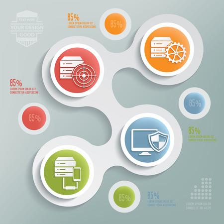 hardware configuration: Database server design,info graphic design on blur background,clean vector