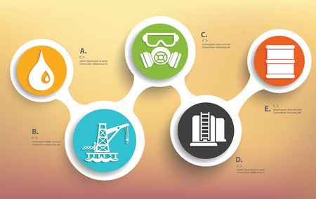 industrial building: Oil and industry design on blur background,info graphic design,clean vector