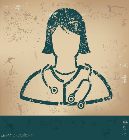 old paper background: Doctor design on old paper background,grunge concept,vector Illustration