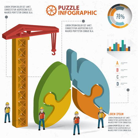 respire: Lung puzzle design, info graphic design. Clean vector.