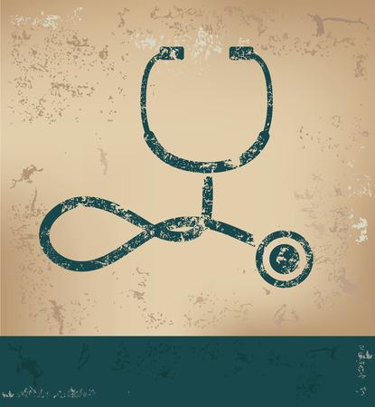 old paper background: Medical design on old paper background,grunge concept,vector