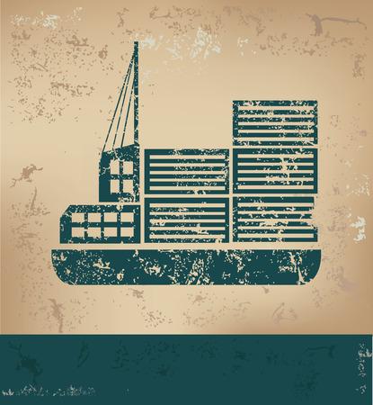 old paper background: Transport design on old paper background,grunge concept,vector
