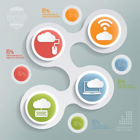 wireless network: Cloud computing design,info graphic design on blur background,clean vector
