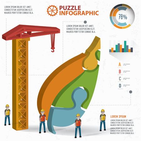 three leaf: Leaf puzzle info graphic design,three dimension,clean vector