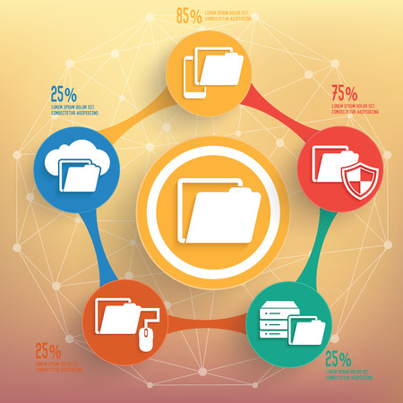 encode: File sharing info graphic design, Business concept design. Clean vector.