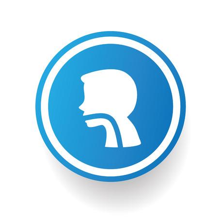 gastroenterology: Gastroenterology,blue icon design on white background,clean vector