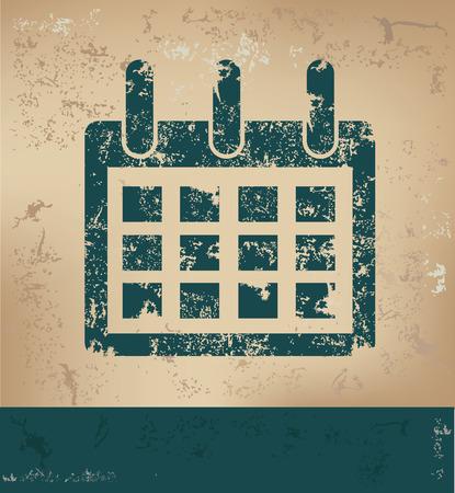 blue grunge background: Calendar design on old paper background