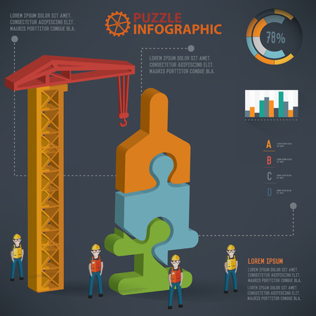 the immunization: Syringe puzzle design, info graphic design.