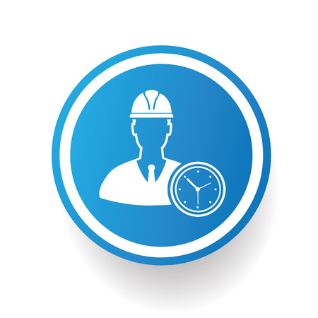 engineering icon: Engineering icon design on blue button