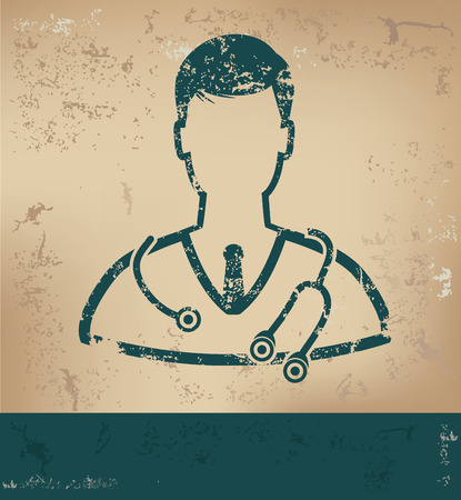Doctor design on old paper background Illustration