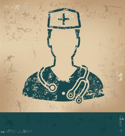 old paper background: Doctor design on old paper background Illustration
