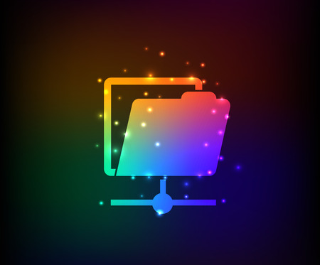 File sharing design Illustration