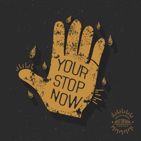 stop hand: Stop hand design