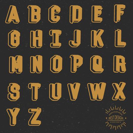 old background: Font design, retro concept, grunge design on old background, clean vector