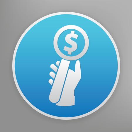 bid: Haga una oferta icono del diseño en el botón azul, limpio vector Vectores