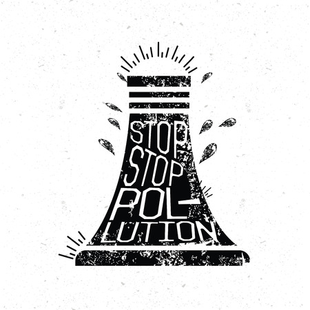 stop pollution: Stop pollution design grunge concept design clean vector.