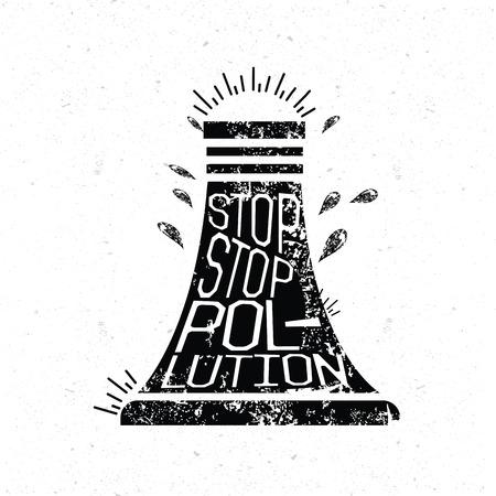 stop pollution: Stop pollution design grunge concept design clean vector.