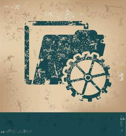 old paper background: Folder design on old paper background,grunge concept,vector