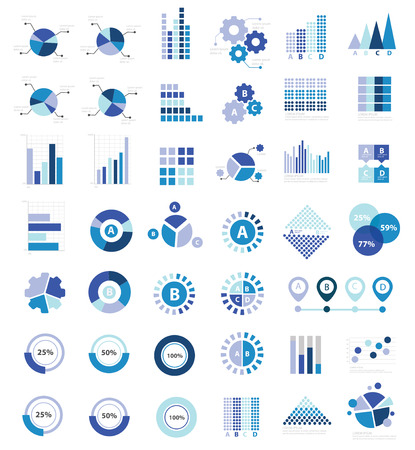 huge: Data analysis for info graphic design icon set,clean vector
