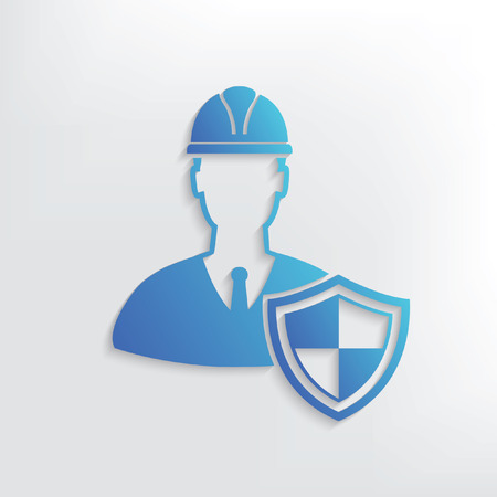construction helmet: Engineering symbol design,clean vector