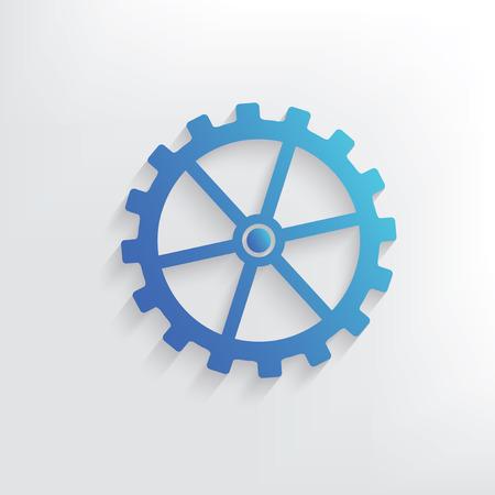 gear symbol: Gear symbol design,clean vector
