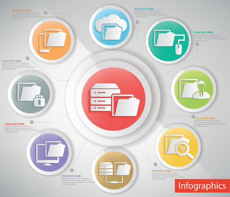 file share: File share,networking info graphic design,clean vector