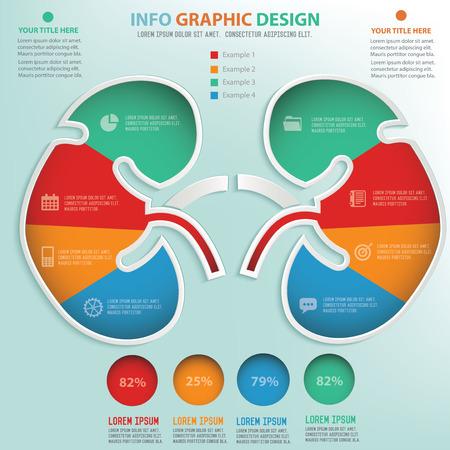腎臓情報グラフィック デザイン、データのコンセプト デザイン  イラスト・ベクター素材