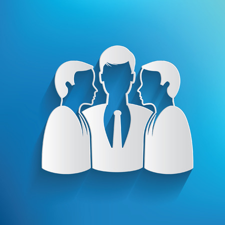 recruit suit: Teamwork,human resource design on blue background Illustration